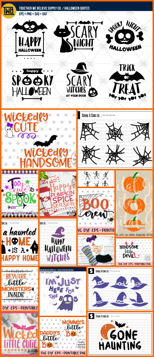 svg for halloween, cute halloween graphics, halloween vectors