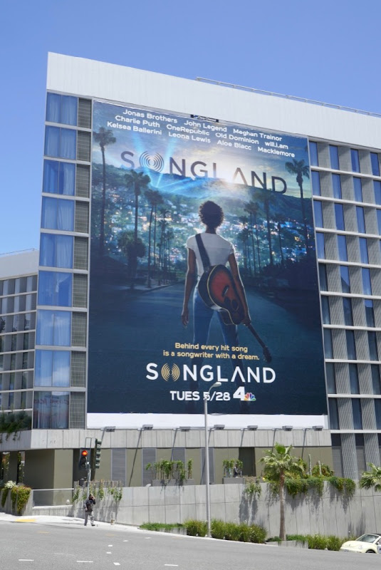 Giant Songland NBC series billboard
