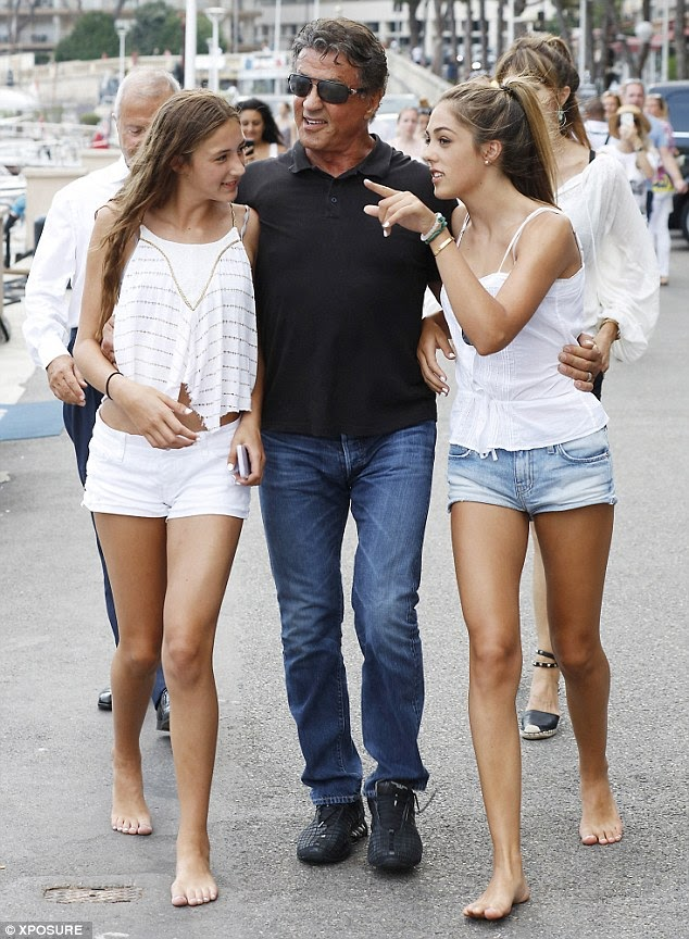 sylvester stallone daughters