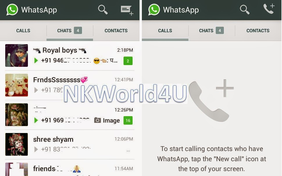 How to Activate WhatsApp Voice Calling Feature NKWorld4U