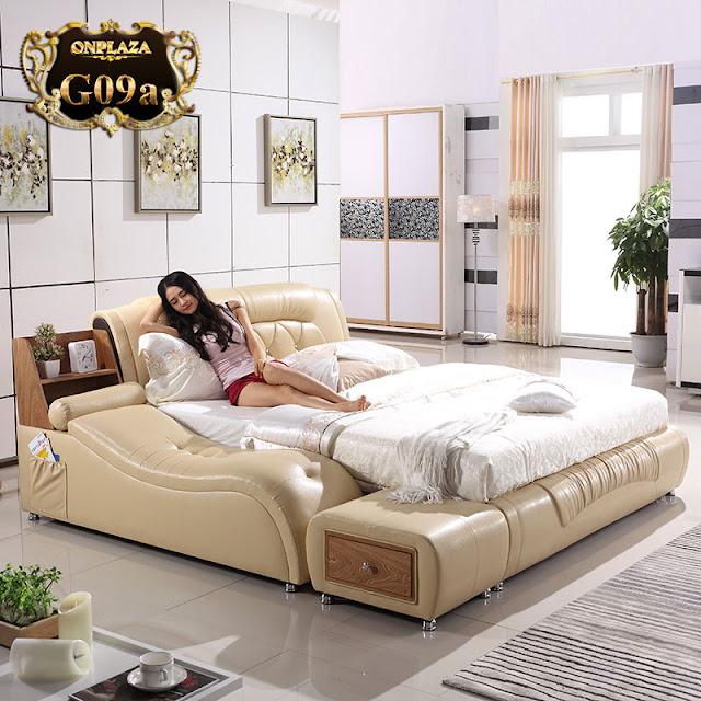 Giường ngủ đa năng cao cấp phong cách châu Âu hiện đại