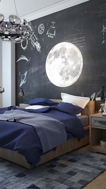 dekorasi kamar tidur kreatif, menghias kamar tidur dengan origami, interior kamar tidur ukuran kecil, dekorasi kamar tidur hello kitty