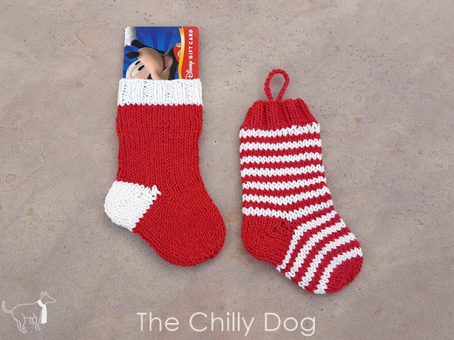 Stash Buster Knitting Pattern: Christmas Stocking Gift Card Holder Ornament