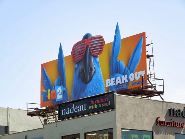 Rio 2 Beak Out special movie billboard