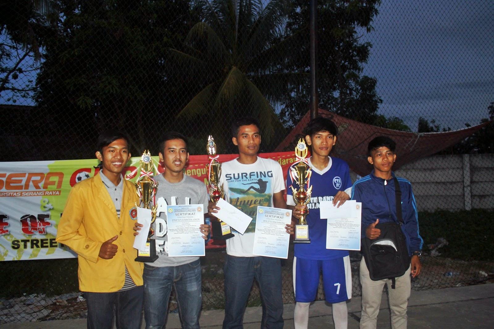 Juara 1, 2, 3 Lomba Futsal Unsera Cup