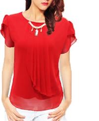 skinny indonesia atasan warna merah