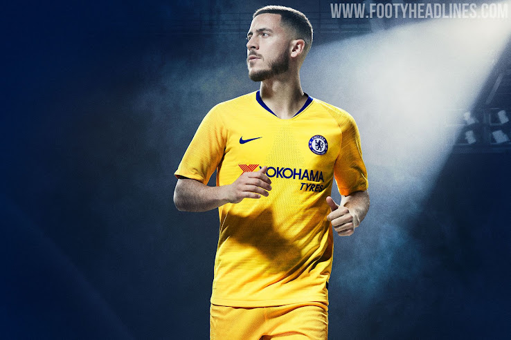 96424740b15 Nike has released its first-ever yellow Chelsea kit ahead of the new  season. The new Nike Chelsea 2018-2019 away jersey was launched on July 20.