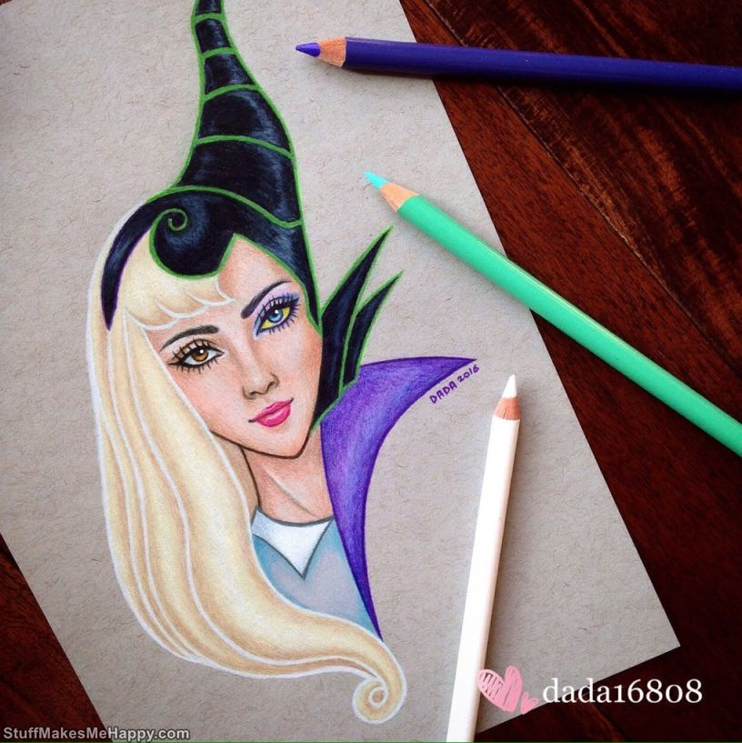 14. Aurora and Maleficent