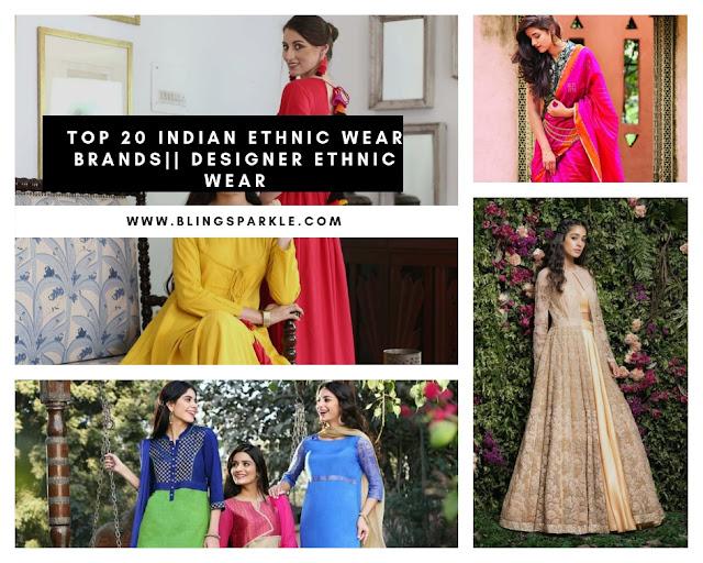 Designer Clothing Brand Names | Top 20 Indian Ethnic Wear Brand Names List Of Top 10 Indian