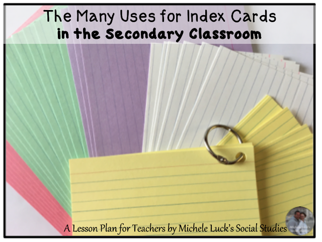 There are many ways to use index cards in the classroom. Here are just a few simple strategies that could have huge impacts on student learning.