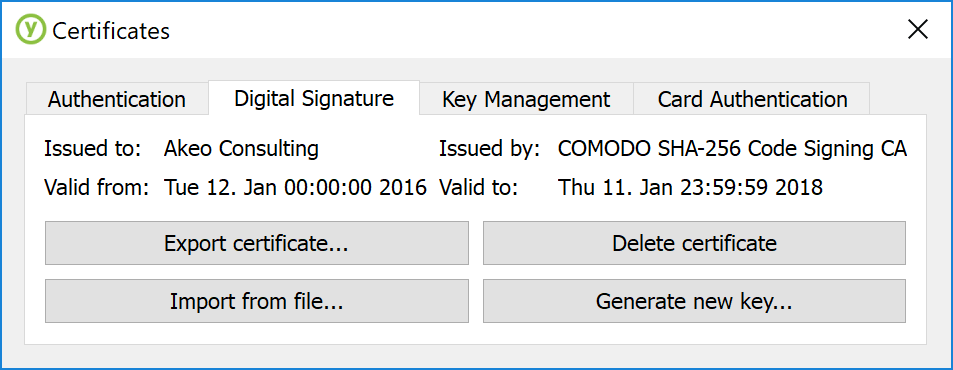 Pete's Blog: Using a YubiKey to store code signing certificates