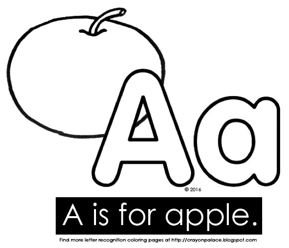 a for apple coloring pages - photo#49