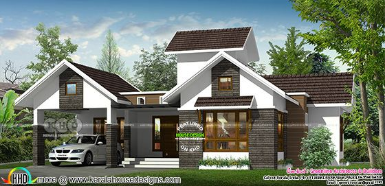 130 sq-m 3 bedroom mixed roof Kerala home
