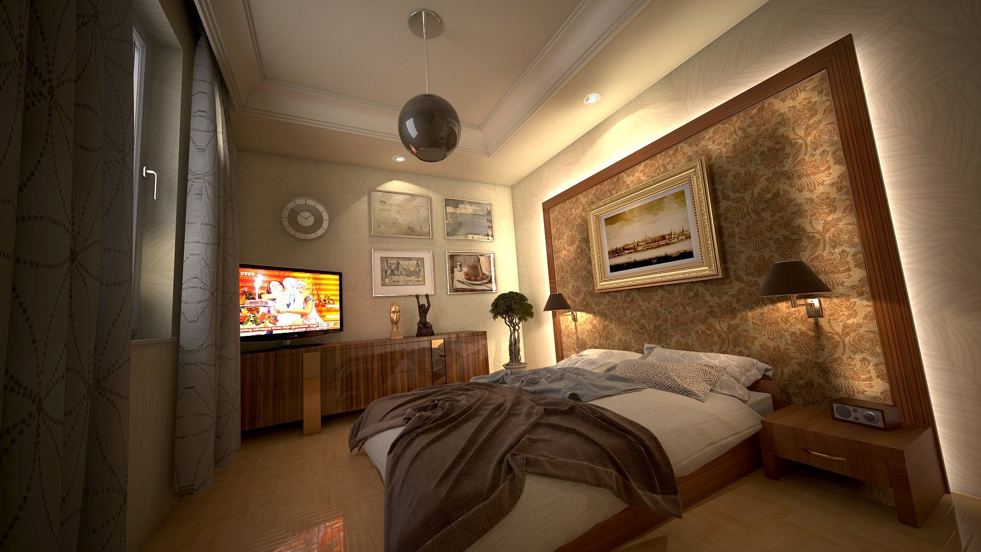 Bedroom design hd wallpapers 4k - Deco de chambre adulte moderne ...