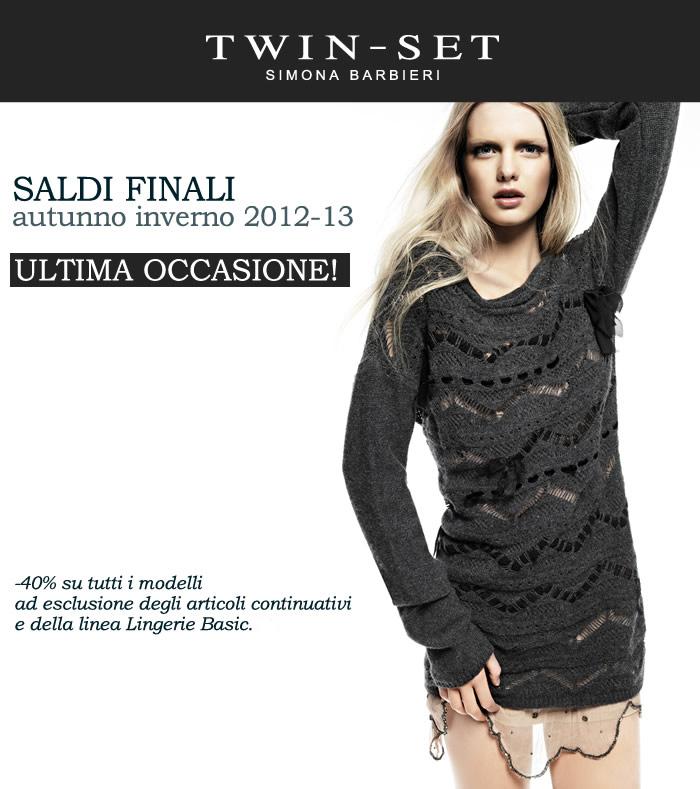 new styles dad54 c96e4 Twin-Set Simona Barbieri, saldi d'inverno [Approfitta dei ...