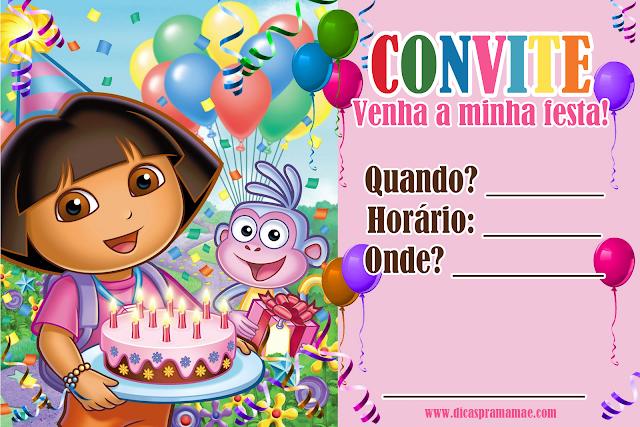 Convites Dora Aventureira Gratuitos Dicas Pra Mamãe