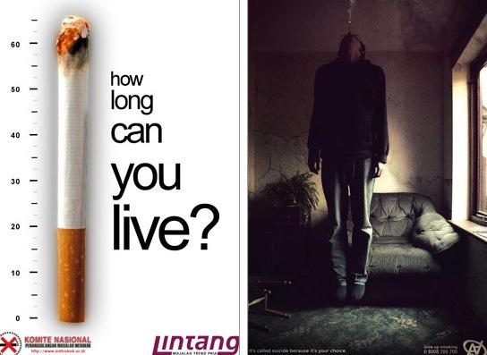 Campagna pubblicitaria chi fuma avvelena anche te digli di smettere