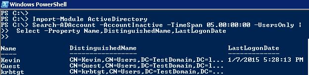 Admin | Programming | Articles, FAQs, Scripts: Find Inactive