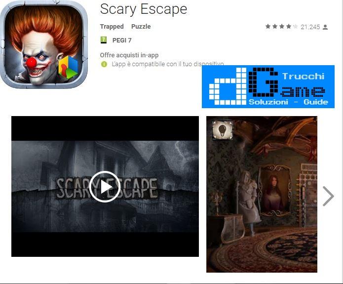 Soluzioni Scary Escape di tutti i livelli | Walkthrough guide