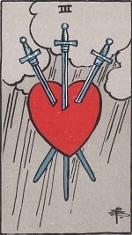 The Three of Swords, RWS