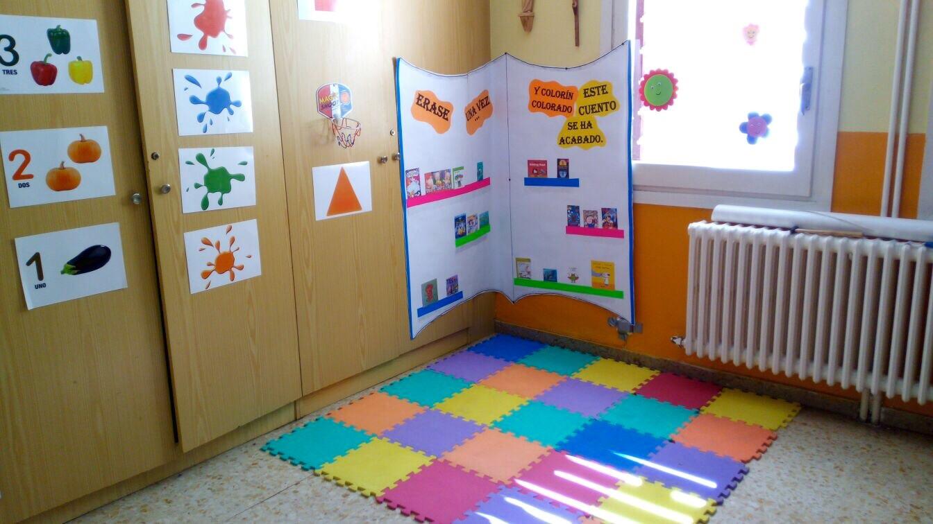 Main zaragoza el rinc n de lectura de 1 de infantil for Rincon lectura