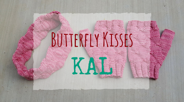Improve your knitting skills and make a cozy set of mitts and an earwarmer with the Butterfly Kisses KAL hosted by The Chilly Dog.