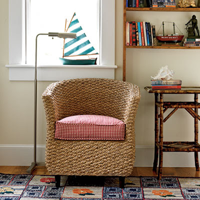 accent wicker chair