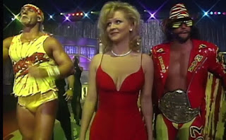 WCW Clash of the Champions XXXI - Elizabeth returned to manage Hogan & Savage against Giant & Flair