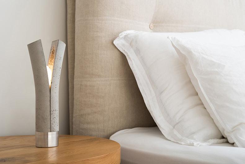 Liberando la Luz - Lámparas de hormigón de Dror Kaspi