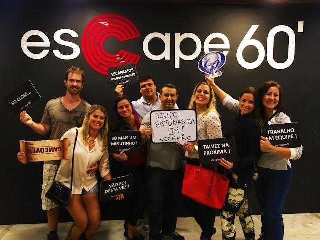Equipe Histórias da Di na na sala Uncharted 4 - Escape60