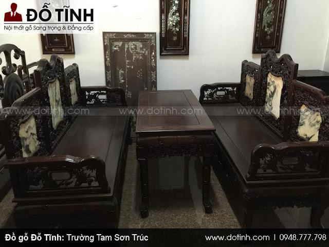 Bộ trường kỷ Tam Sơn Trúc - Mẫu trường kỷ cổ đẹp nhất 2018