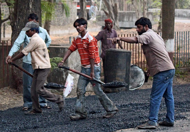 Stock Pictures: Road being surfaced with tar