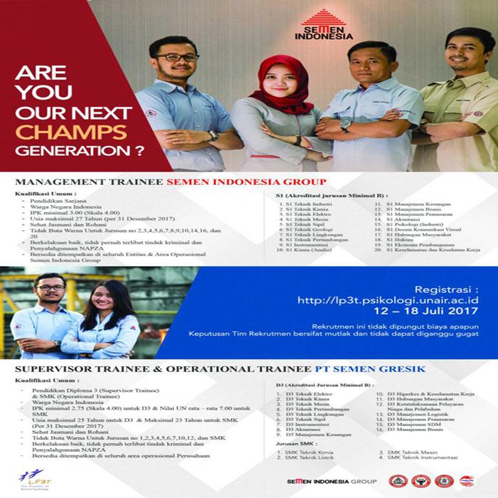 Lowongan Kerja Semen Indonesia Group