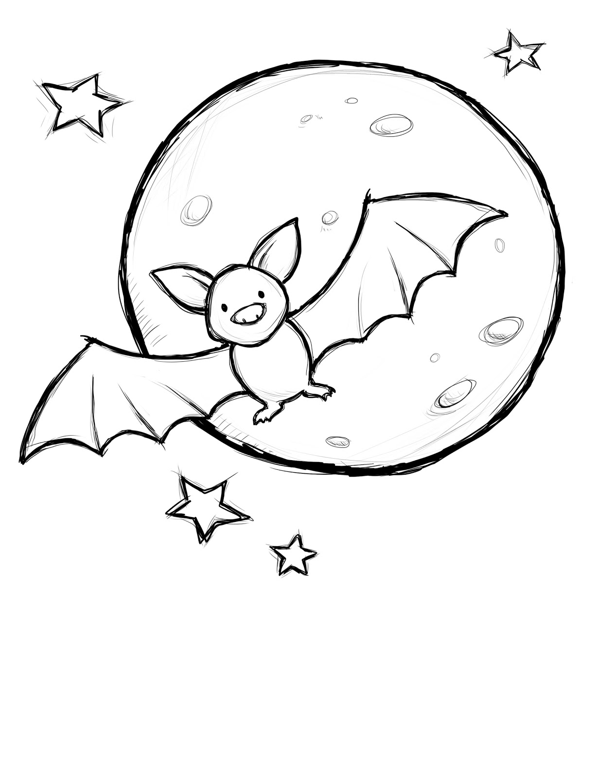 holloween moon coloring pages - photo#2