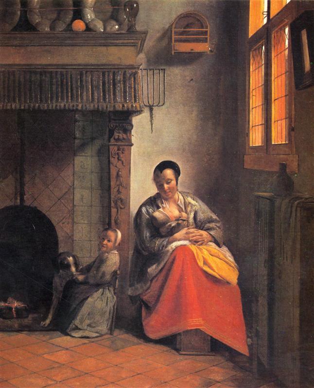 Pieter de Hooch - Кормящая мать