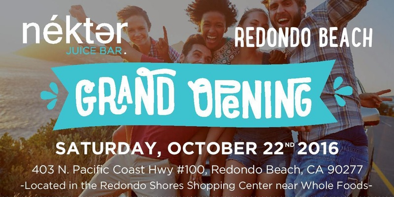 Oct. 22 | $1 Juices & Smoothies Promo for Grand Opening of Nekter Juice Bar in Redondo Beach