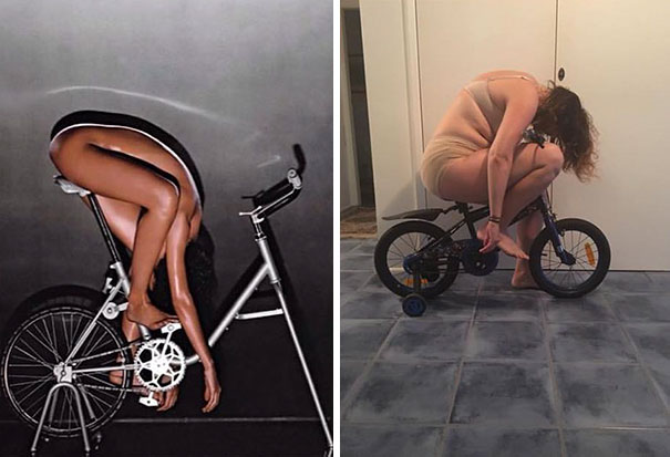 Woman Hilariously Recreates Celebrity Instagram Photos (Part 2) - Spoiler Alert - I'm On The Right!