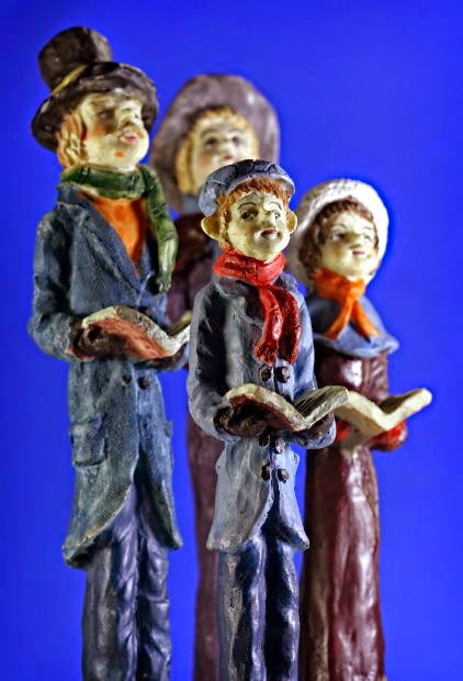 Christmas Carol Singers Figurines.Topical Tens 20th December Go Caroling Day