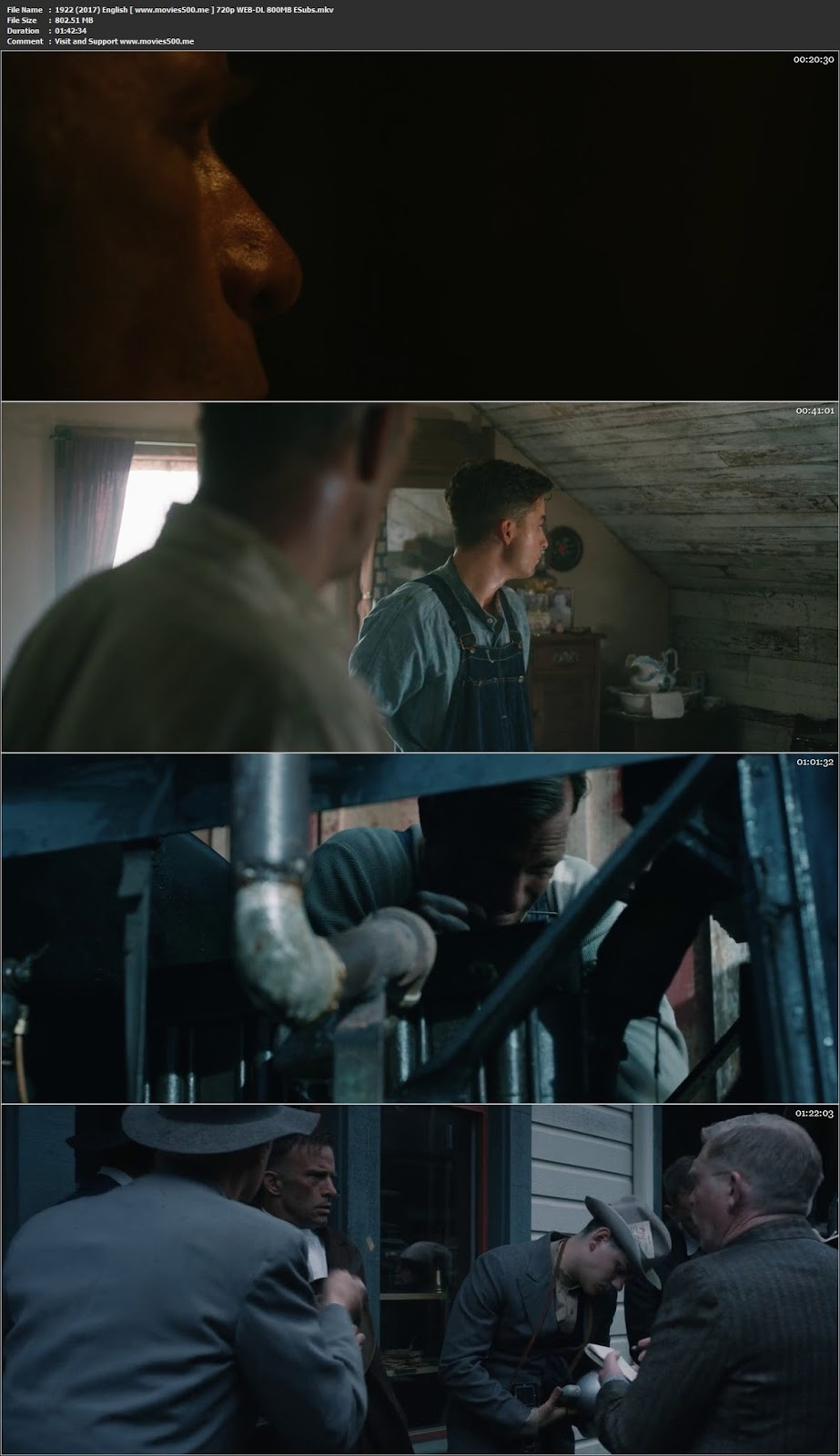 1922 (2017) English Full Movie WEB DL 720p ESubs at movies500.info