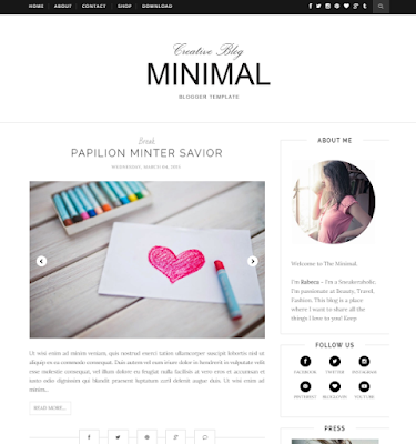 Minimal Blogger template clean and simple blog template