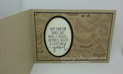 Paperjay Crafts, Stampin Up, Birthday Memories,Crumb Cake, Inner