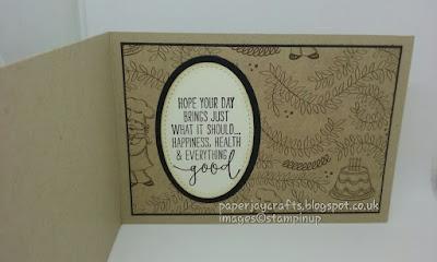 Paperjay Crafts, Stampin Up, Birthday Memories,Crumb Cake, Inner