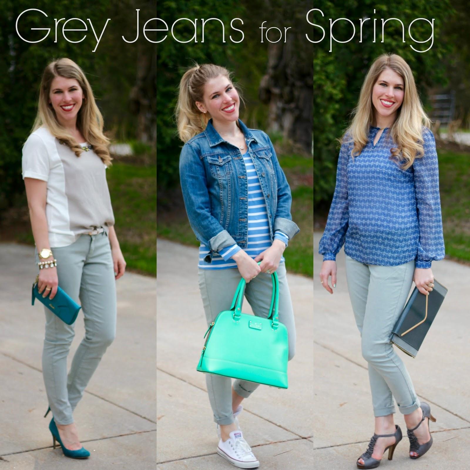 grey jeans 3 ways