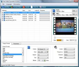 Koyote gratis Video Converter