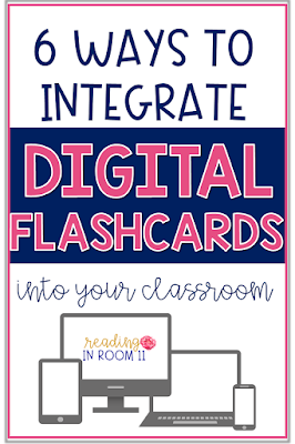 Click to learn more about Digital flashcards and six ways that you can incorporate them into your classroom.  They are a game changer when it comes to reading and are such an engaging and motivating activity.