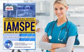 Concurso IAMSPE SP 2018 Técnico em Enfermagem