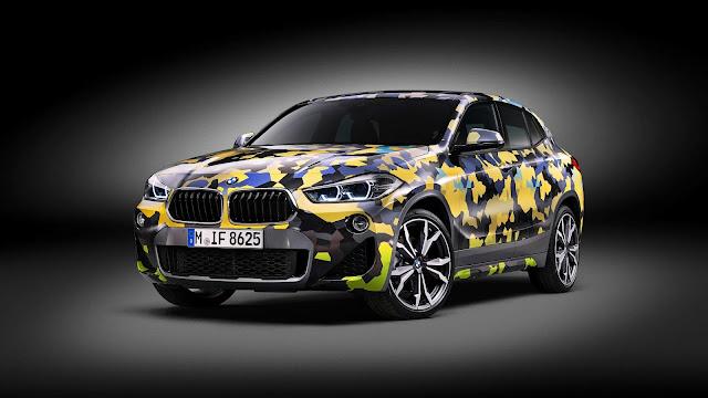 Papel de parede grátis Carro BMW X2 Digital Camo para PC, Notebook, iPhone, Android e Tablet.