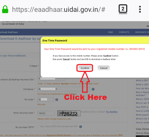 download aadhar card on mobile