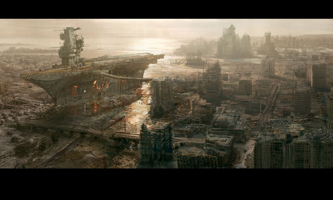 destroyed city street - Google Search | Post apocalyptic ... |Future Destroyed City