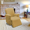 Tan Jersey Chair Stretch Slipcover, Couch Cover, Love Seat, Sofa, Recliner, Furniture Chair, Kashi Home (Recliner)